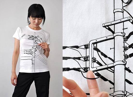 The Phone Wires Shirt by Mrs. Noto