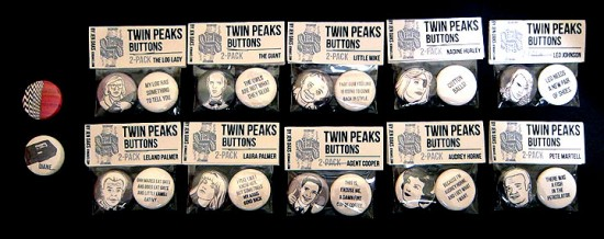 Twin Peaks Buttons by Jen Oaks at APE
