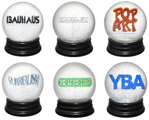 History of Art Snow Globes