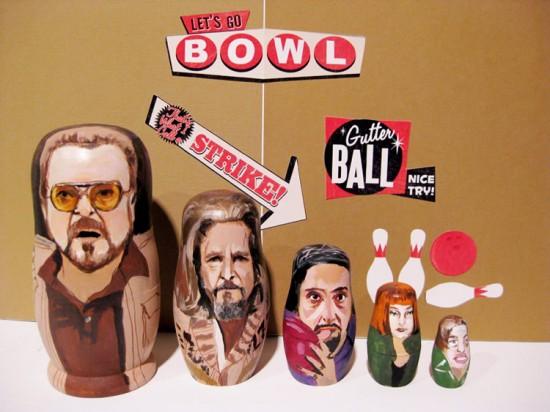 pop culture nesting dolls: The Big Lebowski
