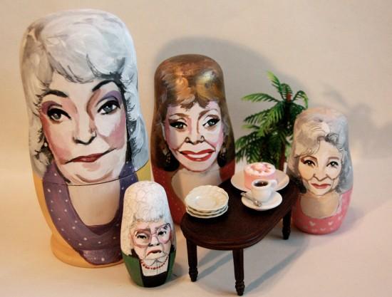 pop culture nesting dolls: Golden Girls