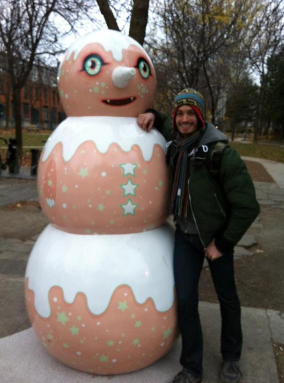 giant designer snowmen: Happy Sparkles Snowman by Tara McPherson