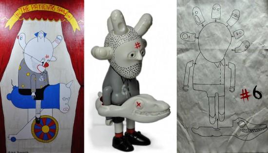 Patient No. 6 resin toy art
