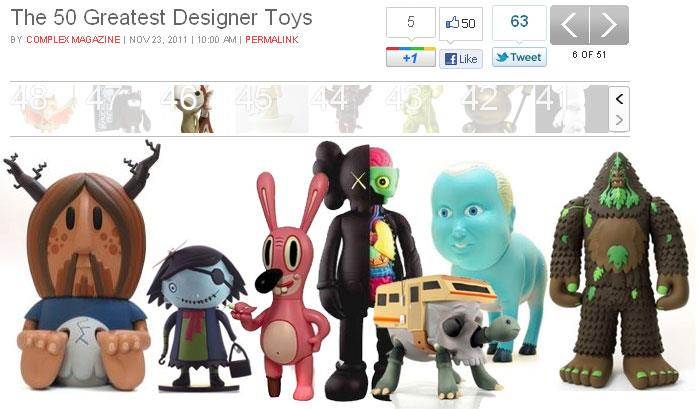 50 Greatest Designer Toys list by Gino Joukar