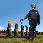 Casually Pepper Spray Easter Island