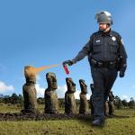 Casually Pepper Spray Easter Island