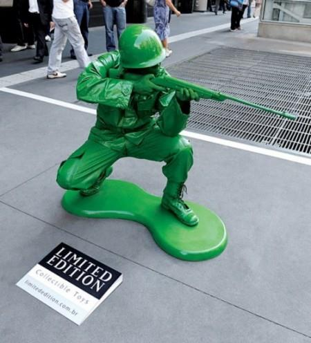 Real Life Green Army Man