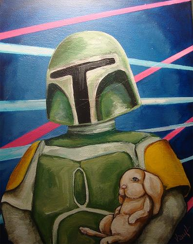 Boba Fett with Bunny Rabbit by Kelly Kerrigan