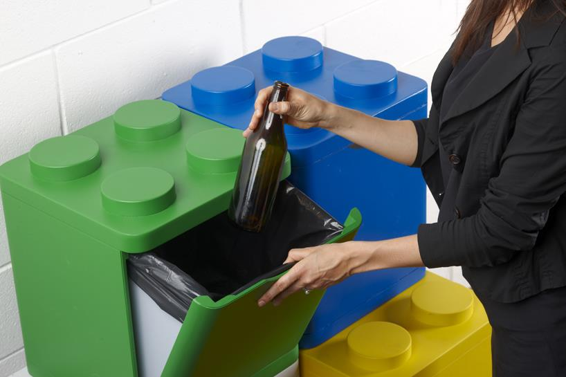 lego stacking bins for recycling. Black Bedroom Furniture Sets. Home Design Ideas