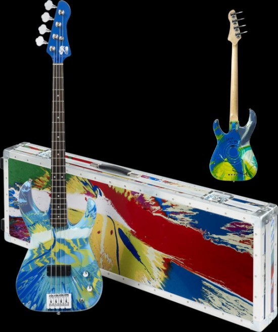 Colour-Spun Bass Guitars by Damien Hirst & Flea