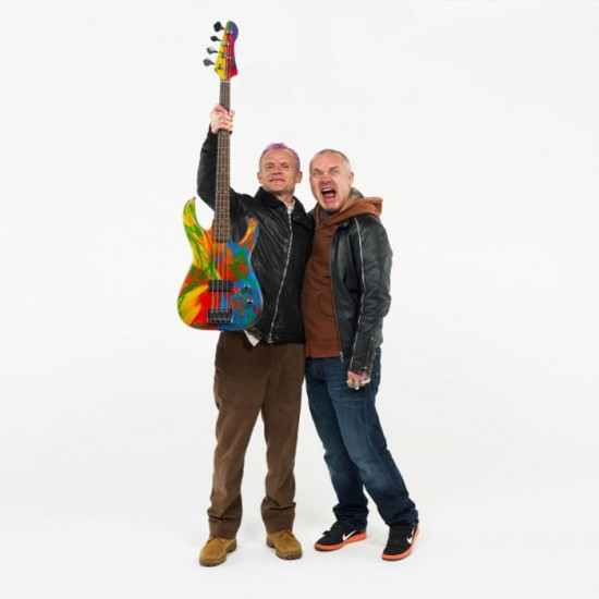 Deluxe Spin Bass Guitars by Damien Hirst and Flea
