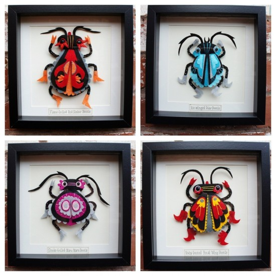 Beetles by Felt Mistress
