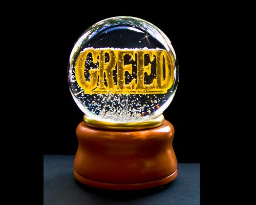 Greed Deadly Sins Snow Globe by Ligano/Reese