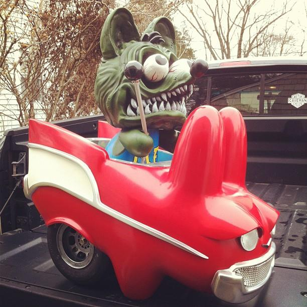 Rat Fink Rabbit Hotrod by Mr. Den