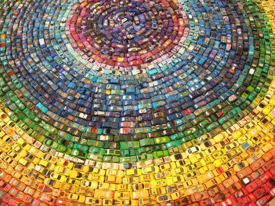 Car Atlas Rainbow Mandala by David T. Walker