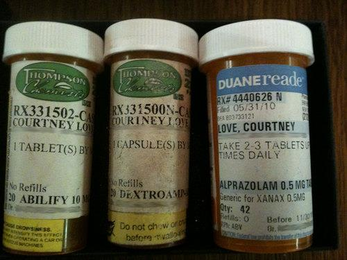 (allegedly) Courtney Love's Pills