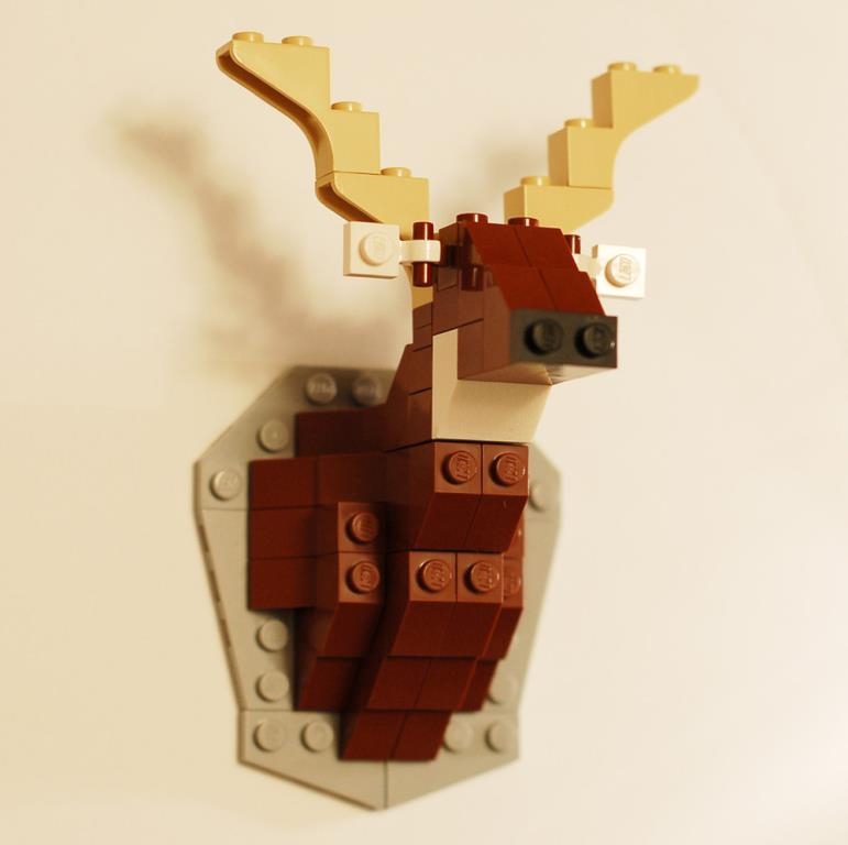 Lego Taxidermy Deer by David Cole