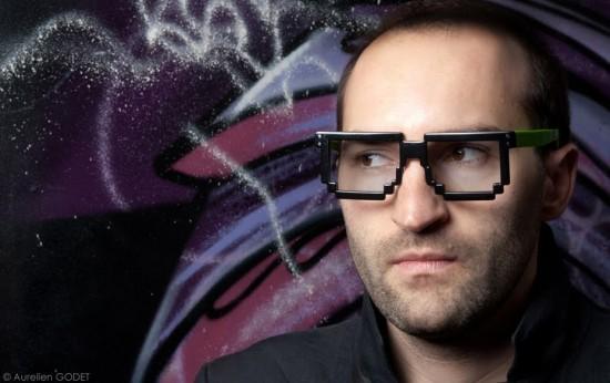 Pixelated Retro Designer Glasses by Dzmitry Samal