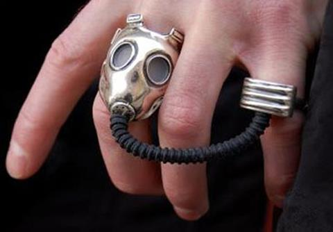 Gas Mask Ring by Alchemy Gothic