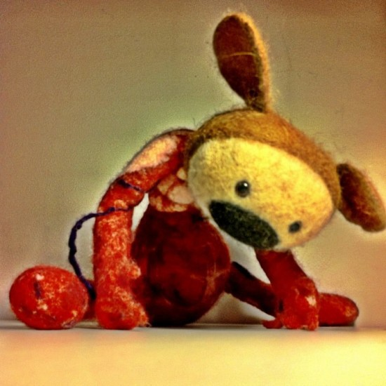 Needle-felted life-form by MISZEK