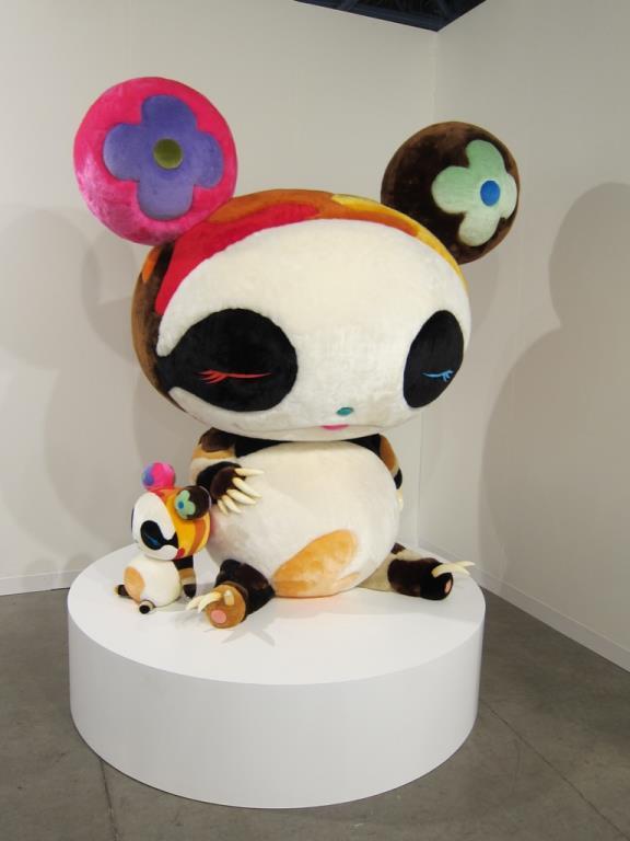 Plush sculpture by Takashi Murakami for Art Basel