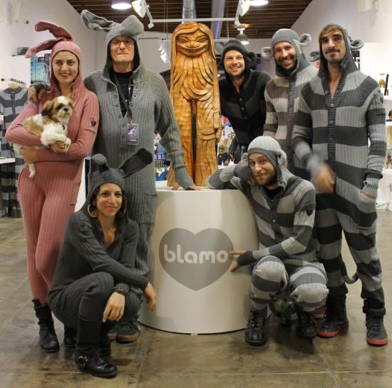 Blamo Toys Posse in bunny onesies