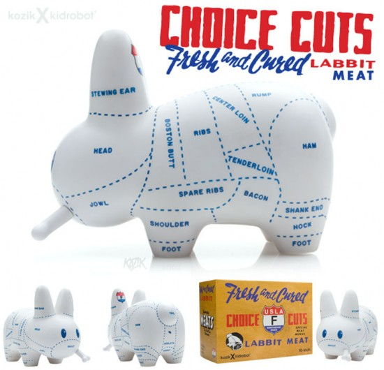 Choice Cuts Labbit by Frank Kozik x Kidrobot