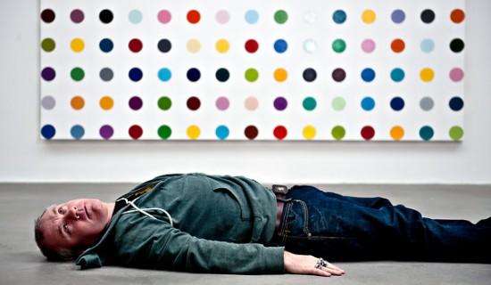 Damien Hirst Spot Paintings as Stuff