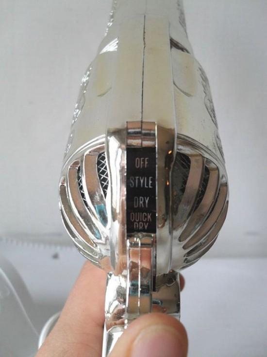 hair dryer shaped like a gun