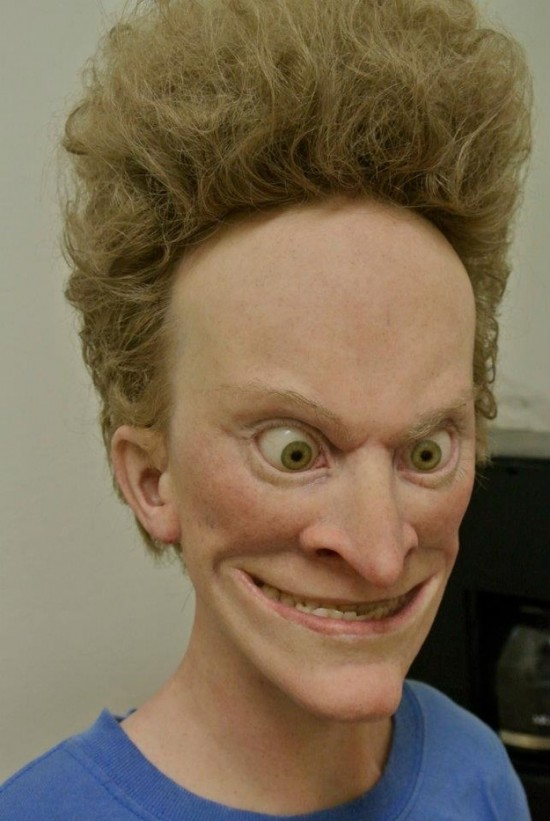 Hyperrealistic Beavis and Butthead Prosthetics by Kevin Kirkpatrick