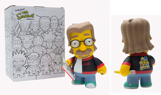 Matt Groening Simpsons Figure by Kidrobot