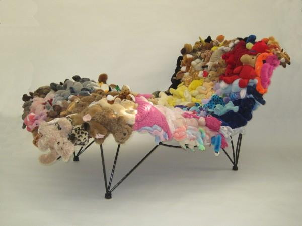 Lovely Stuffed Animal Chair By Don Kennell