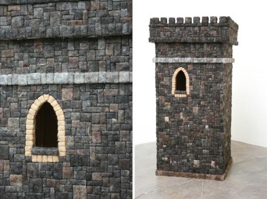 Hair Brick Tower by Agustina Woodgate