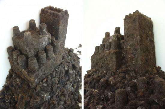Hair Brick Sand Castle by Agustina Woodgate