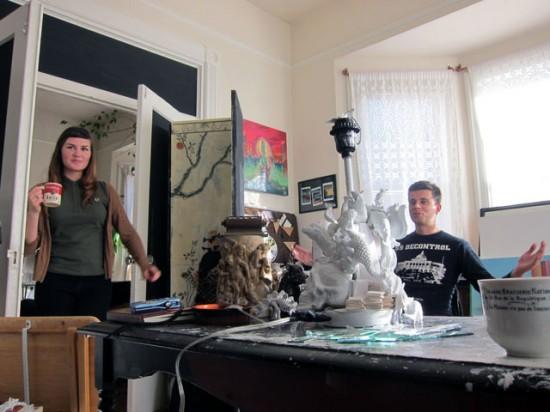 Angela Casserly and Andrei Bouzikov in their studio.