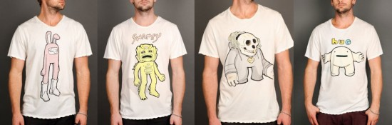 Character T-shirts by Blamo