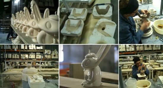 Porcelain Bunny Bunniguru by Nathan Jurevicius x K. Olin Tribu