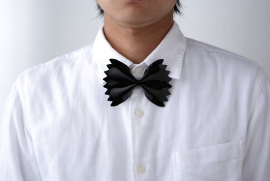 The farfalle pasta bowtie designed by Microworks in Japan