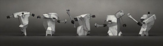 Hurling Players by Fabrice Le Nezet
