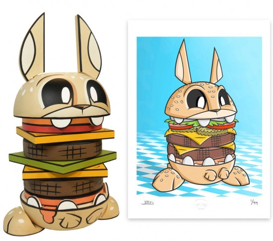 Wooden Burgerbunny by Joe Ledbetter