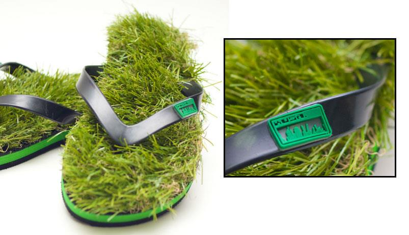 ab2aca2cb891 Kusa Flip Flops Made of Fake Grass