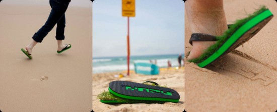 Grass Flip Flops by Kusa