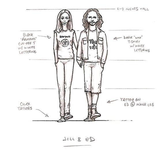 Eddie Vedder & Jill McCormick Wedding Cake Toppers by Mike Leavitt