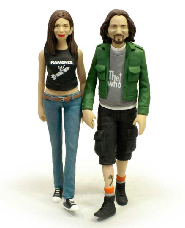Eddie Vedder & Jill McCormick Wedding Cake Toppers by Mike Leavitt