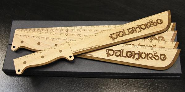 Engraved Machete Rulers by Palehorse