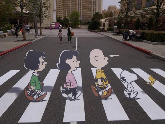 Peanuts Crossing Abbey Road