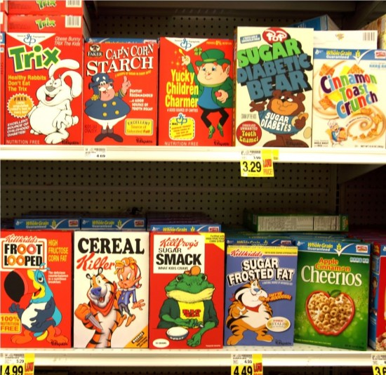 Parody Cereals by Ron English
