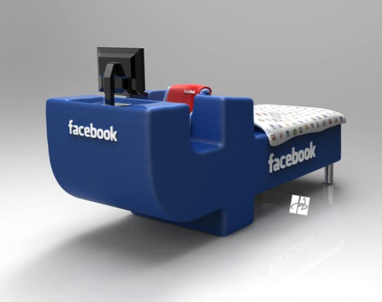 The Facebook Bed by Tomislav Zvonarić