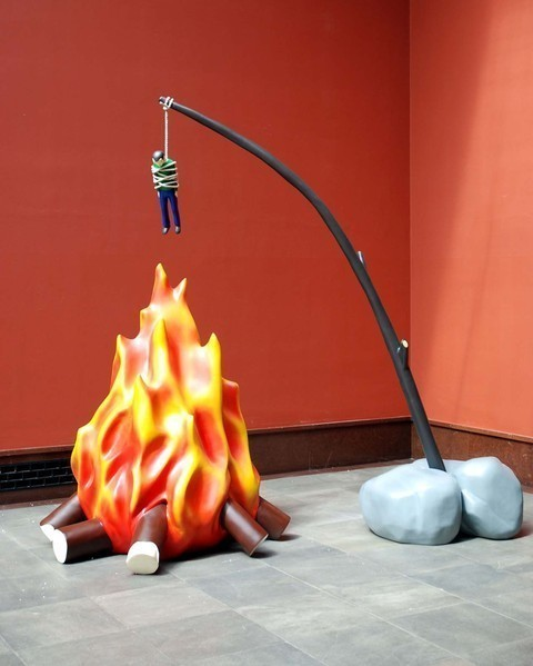 &quot;Burning Artist&quot; by Fredrik Raddum