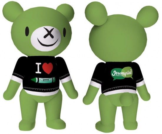 I Heart Green Bear